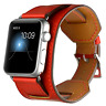 RED PREMIUM GENUINE LEATHER Cuff Strap Band for Apple Watch iWatch 38mm / 42mm
