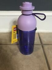 LEGO Hydration Water Bottle Drink Container Kids Mini Figure School Purple 500ml