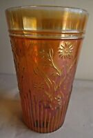 Vintage Carnival Glass Tumblers Flower Fantasy Jain Glass Works India Rare#32 F