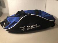 TRANSPORT Blue & Black Zip-Up Duffel Bag EMT Fire Medic Gym Travel Small Size