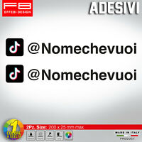 Adesivo Stickers TIK TOK +SCEGLI IL TUO NOME USER NAME social MOTO AUTO TUNING