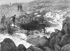 CALIFORNIA. Entrance to captain Jack's cave, antique print, 1873