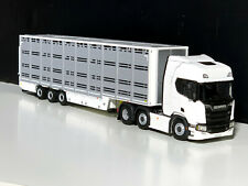 SCANIA R HIGHLINE CR20H LIVE STOCK TRAILER, WSI TRUCK MODELS,1;50 SCALE