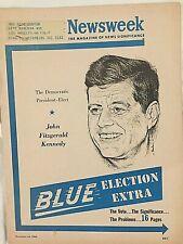 "JOHN F. KENNEDY RARE 11/14/60 NEWSWEEK ""BLUE ELECTION EXTRA"" SPEC. EDIT. MAG!!!!"