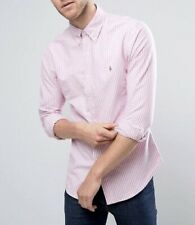 Polo Ralph Lauren Candy Stripe Custom Fit Long Sleeve Oxford Shirt