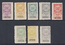 Argentina, San Francisco, Forbin 36//47. 1910 Municipal Tax Fiscals, 8 diff