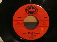 """BILLY MYLES-""""THE JOKER (THAT'S WHAT THEY CALL ME)/HONEY BEE""""-EMBER 45-ORIG.-1957"""