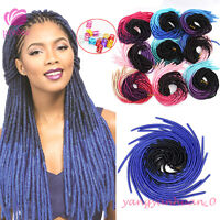 20'' Ombre Faux Locs Dreadlocks Crochet Braid Soft Synthetic Hair Extensions
