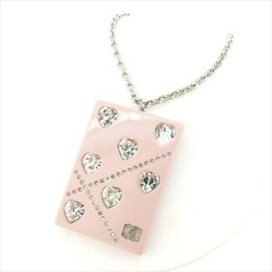 Chanel Necklace Pendant Pink Woman Authentic Used T7673