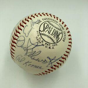 1966 Chicago Cubs Team Signed Baseball Ernie Banks Billy Williams Ron Santo JSA