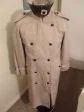 NU AGE Ladies Ecru/Natural Military Style Lined Duster/Coat/Jacket UK12 C/Blend
