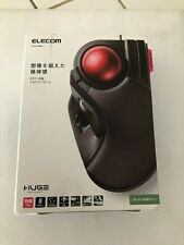 ELECOM trackball mouse Wired 8 button Big ball M-HT1URBK f TESTED AND CLEAN