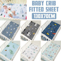 Soft 100% Pure Cotton Baby Bed Cover Crib Fitted Sheet Toddler Cot 130*70CM