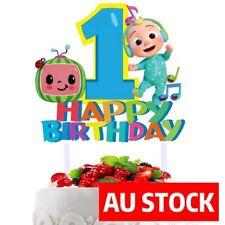 COCOMELON 1ST BIRTHDAY Happy Birthday Cake Topper Party Decoration AU STOCK