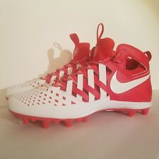 Nike Huarache V 5 Lax Lacrosse Cleats White/Red 807142-611 Men's size 13 New
