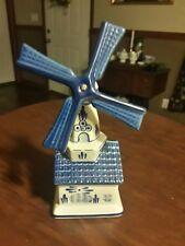 """Beautiful Delft Windmill 7 5/8"""" tall Music Box"""