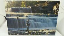 Vintage  Postcard Flyfishing Lower Falls  Waterfall at Aysgarth Yorkshire