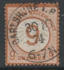 Germany - 1874, 9k Chestnut stamp - Used - SG 30 (Cat. £700)