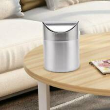1.5L Metal Mini Recycling Swing Lid Kitchen Worktop Waste trash can