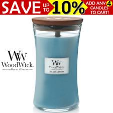 WoodWick Large Candle - Sea Salt & Cotton WW93063