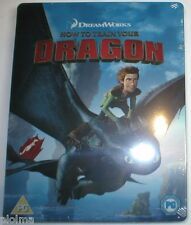 HOW TO TRAIN YOUR DRAGON Brand New Blu-Ray STEELBOOK Region-Free UK Import 2010