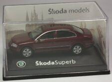 Abrex Skoda Superb Limo dunkelrotmetallic Modellauto 1:72 OVP ST 9903-91-04