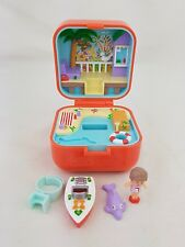 Polly Pocket Lulu et sa Vitesse Bateau RING CASE 100% COMPLET 1991 Excellent Cond.