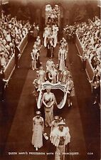 POSTCARD    ROYALTY  Coronation  1937  Queen  Mary  procession