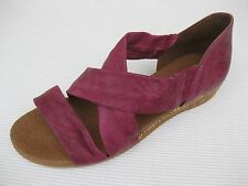 Eric Michael Womens Shoes NEW $110 Nettie Dark Fuchsia Leather Sandal 35 5 5.5