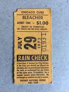 1973 TICKET STUB WRIGLEY FIELD BLEACHERS  CARDINALS @ CUBS  BILLY WILLIAMS 4H HR