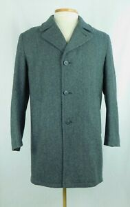 Whales Of New England Heavy 100% Wool Trench Coat ~XXL High Quality Gray 46R