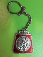 Porte-clés  - 088 -  St Christophe émaillé vernis rouge