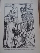 Original 1936 Print by LEO BATES Book Illustration from ROADS OF DESTINY