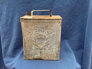 "Vintage ""SHELL MEX & BP LTD"" Two Gallon Petrol Can"