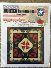 Quilt Of Remembrance Leaflet Pattern by Pam and Robert Bono