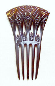 Art Deco hair comb Egyptian Revival papyrus design
