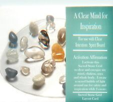 "A CLEAR MIND FOR INSPIRATION Grid Card 4x6"" Heavy Cardstock Healing Crystals"