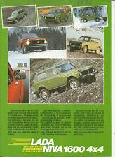 LADA NIVA 1600 - VAZ 2121 - 1986 ? SUISSE / catalogue brochure prospekt dépliant