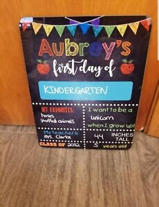 Reusable First Day of School Dry Erase Board