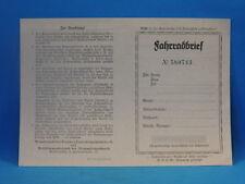 Original Fahrradbrief für ein Fahrrad der 20er Jahre. LgNr. F2268