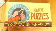Vintage Gilbert Puzzles Original Box Wire Dexterity Skill cir. 1940's