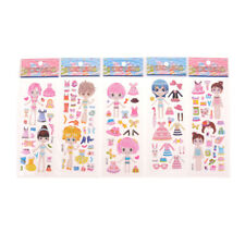 5X DIY Princess Dress Stickers Lovely Girl Dress up Changing Clothes Kids ToyM&C