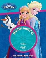 DISNEY FROZEN ANNA ELSA OLAF Book from the Movie & CD Original Movie Voices NEW