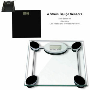 130KG DIGITAL ELECTRONIC GLASS LCD WEIGHING BODY SCALES BATHROOM HELPS LOSE FAT
