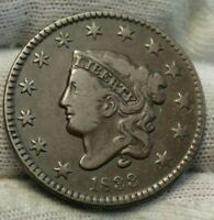 1833 Penny Coronet Large Cent - Nice Coin, Free Shipping  (9294)