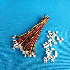 20X JST Cable 1.25mm 3pin Female&Male Connector Plug & Wire For RC Lipo Battery