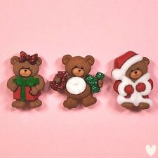 DRESS IT UP Buttons A Beary Merry Christmas 7497- Embellishment - Xmas - Bear