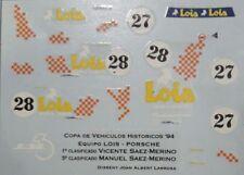 CALCA DECAL 1/43 Porsche 911 #27 #28 Saez-Merino Copa Históricos 1994