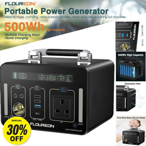 500Wh Portable Generator Solar Power Camping Emergency Power Supply AC/DC/USB-C