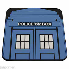 Dr who Dessous de verre Police box en pvc Dr Who police call box coaster